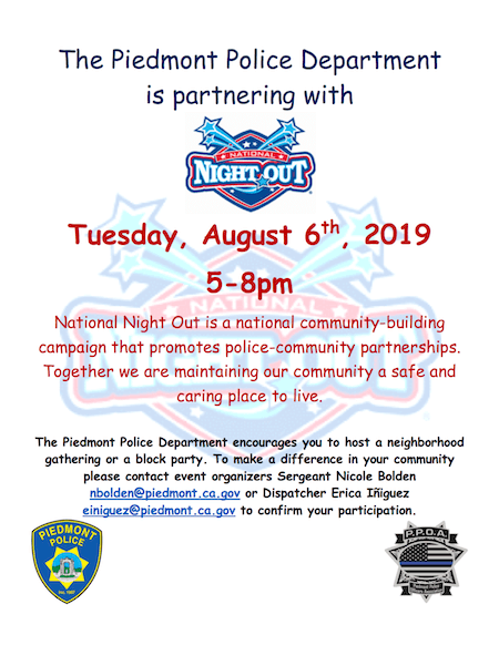National Night Out - August 6th